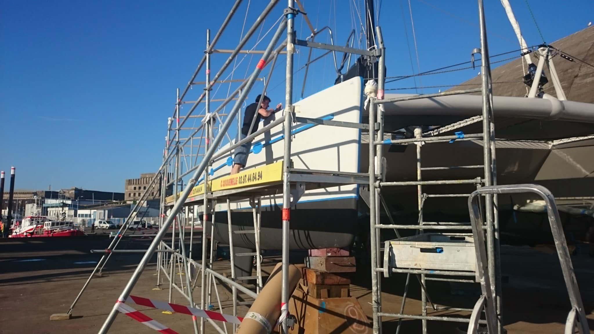Construction de la tente et masquage