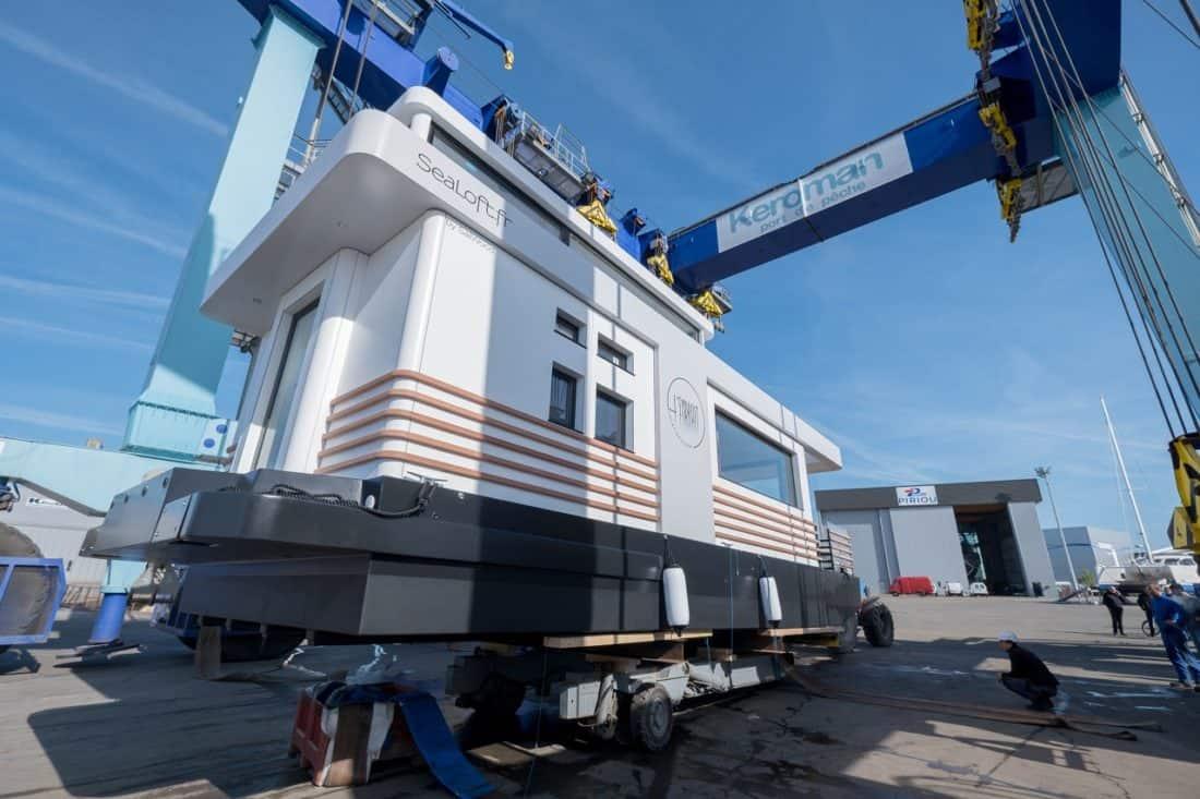 Maison flottante sealoft construction du houseboat by sailwood - Maison flottante ...